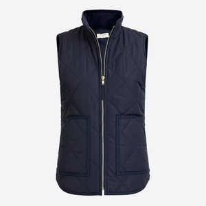 J Crew Factory Black Quilted Puffer Vest - Small